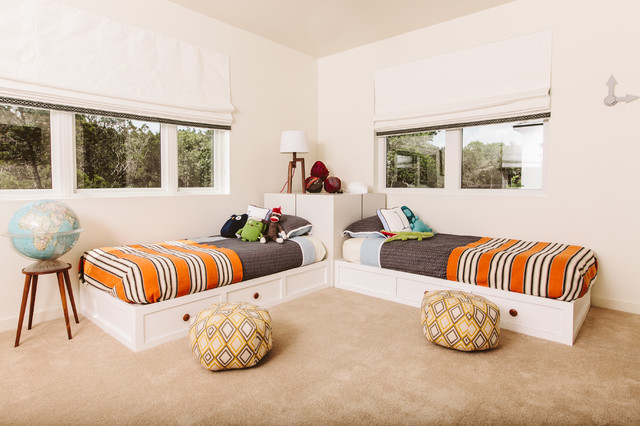 1960's Malibu Inspired New Construction transitional-kids