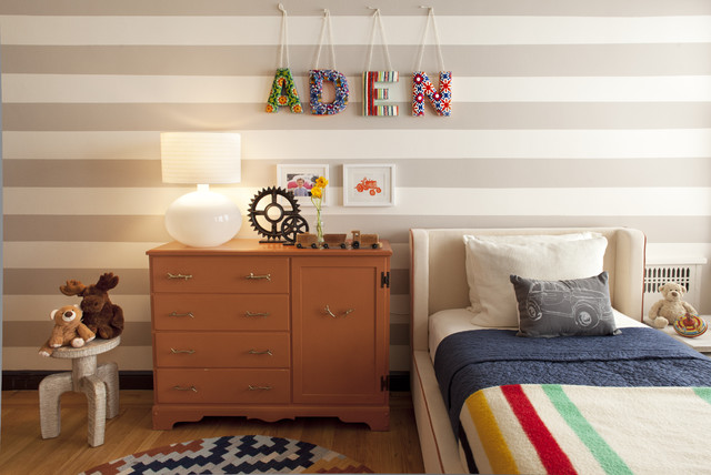 26th Street Residence- Girls Nursery & Toddler Boy Room EM DESIGN INTERIORS contemporary kids