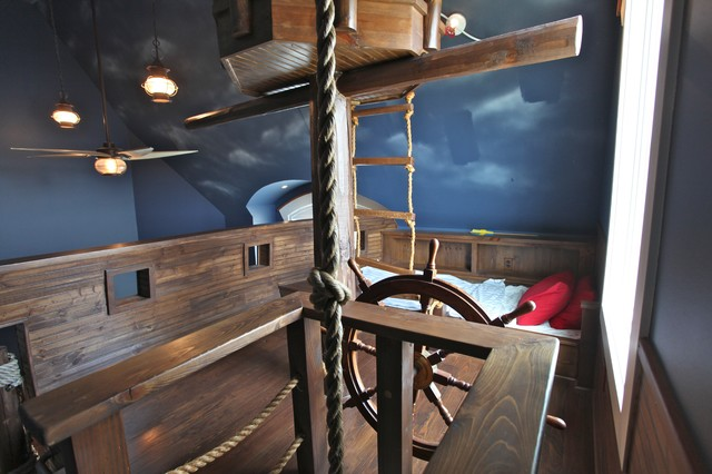 A House of Wimsy: Pirate Ships, Climbing Walls & Slides Oh My contemporary-kids
