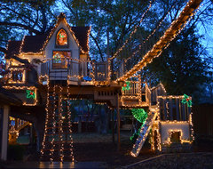 Dallas, TX: Christmas Lights Tree House eclectic-kids