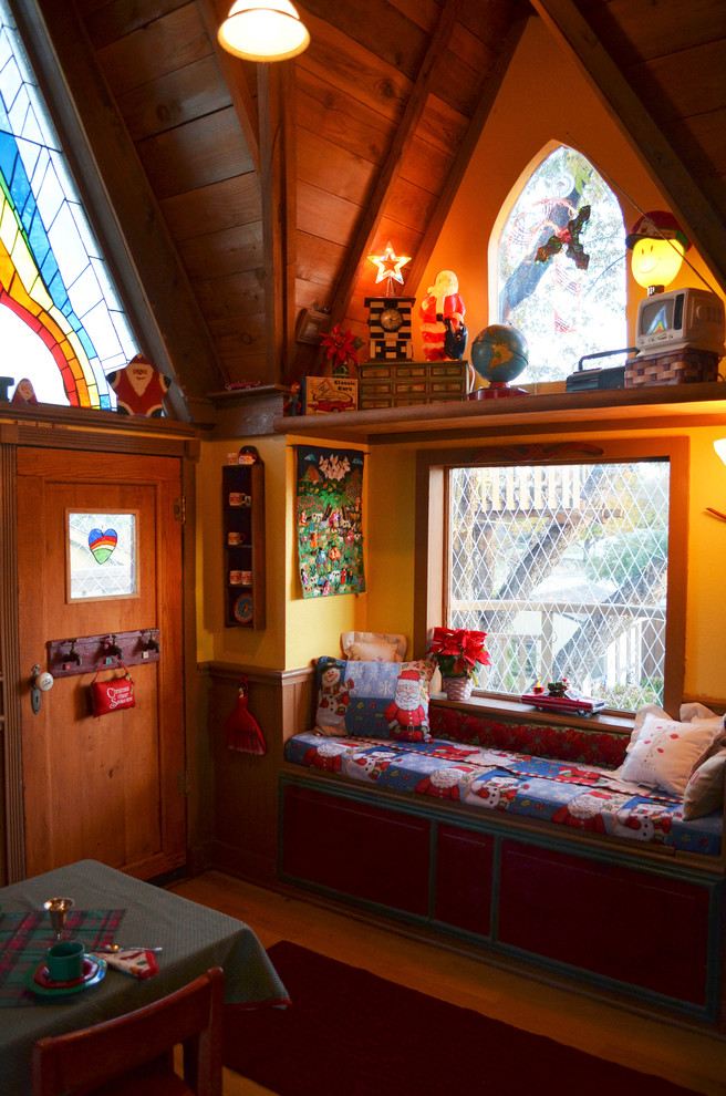 Example of an eclectic gender-neutral kids' room design in Dallas