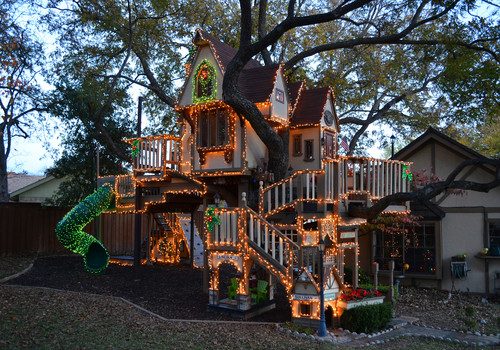 Dallas, TX: Christmas Lights Tree House