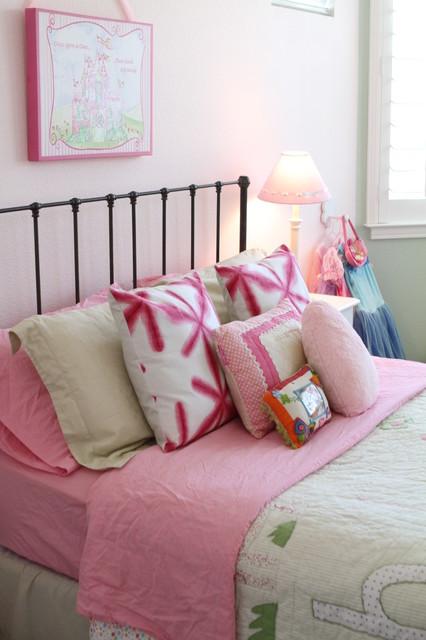 A Pink And Green Princess Room Traditional Kids San