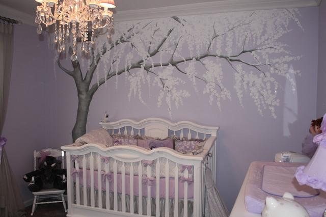 A Sparkling Cherry Blossom Nursery Traditional Kids