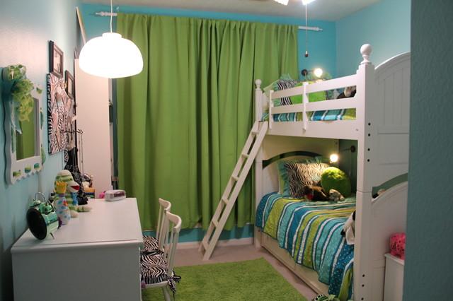 Abby & Audrey's Room Makeover contemporary-kids