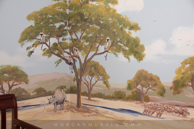 African safari wall mural of animal wildlife kids san for African wall mural