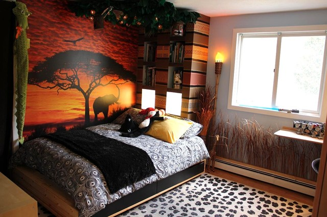 African home deco on pinterest africans safari theme - African safari themed living room ...