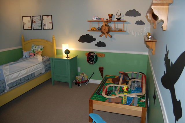 Air Plane Bedroom Eclectic Kids Toronto By Decked
