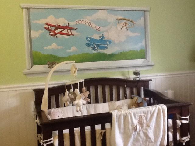 Airplane nursery traditional-kids