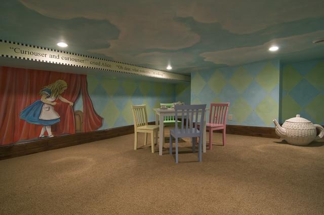 Alice in Wonderland Playroom traditional-kids