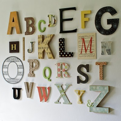 Alphabet Wall - Michelle (atimeforeverything.net)  kids