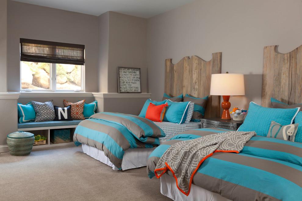 Example of a transitional kids' bedroom design in Denver