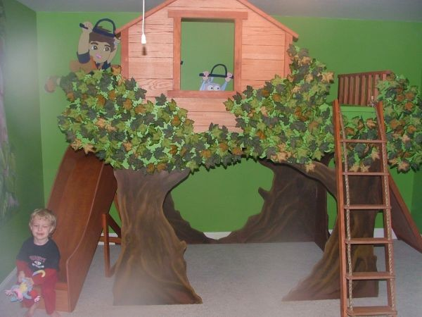 Amazing Boys Tree House Theme Room - Traditional - Kids - other ...