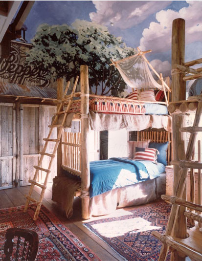 Americana Themed Childrens Bedroom eclectic kids