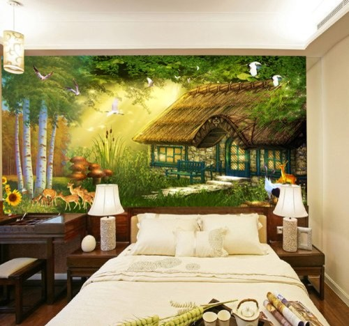 Animal Paradise Kidsu0027 Room Wall Mural, 7 Feet 6 Inch By 3 Feet  9 InchContemporary Kids