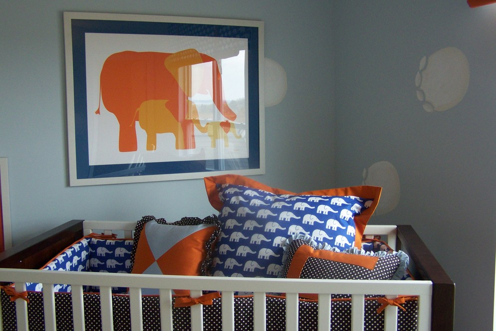 Example of a minimalist kids' room design in Atlanta