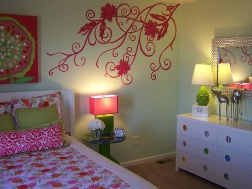 цветы в современном дизайне комнаты для девочки фото