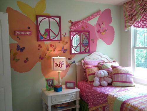 веселый розовый дизайн комнаты для подростка девочки фото