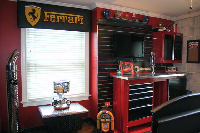 Chambre Deco Garage : Antonio s garage room Éclectique chambre d enfant