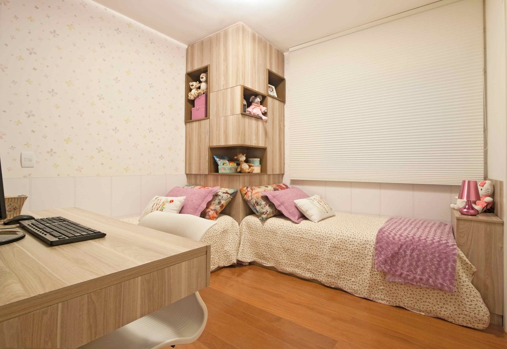 Kids' room - contemporary girl kids' room idea in Other