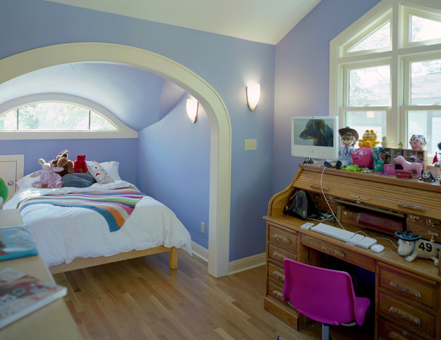Attic Conversion to Bedroom traditional-kids