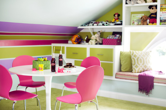 Attic Playroom eclectic-kids