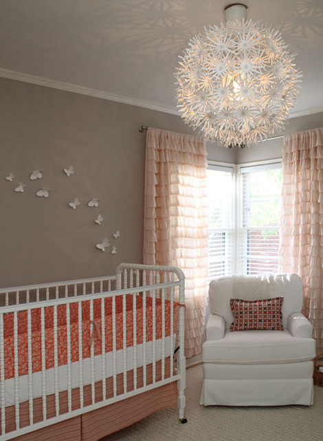Ave's Neutral + Coral Nursery contemporary-kids