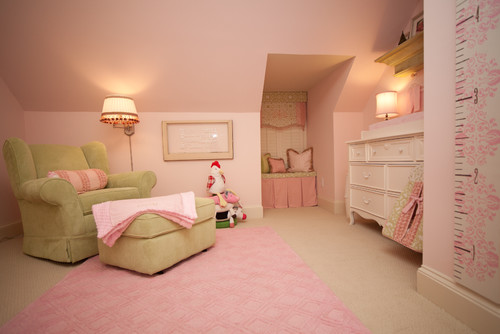 Traditional Pink Girls Nursery Room