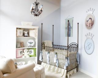Baby Blue And Ivory Gendar Neutral Baby Nursery