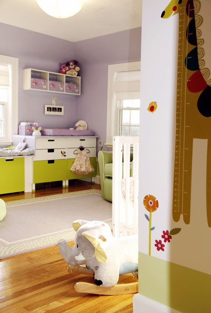 Baby girl room contemporary kids boston by knk studios for Houzz kids room