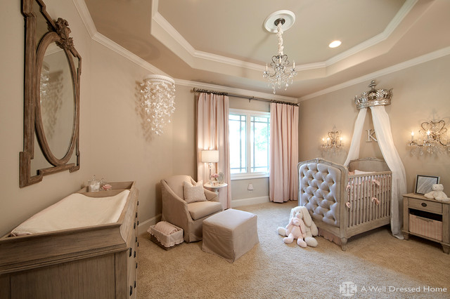 Baby Kate's Nursery - Kids - Dallas - by A Well Dressed Home on well dressed home christmas, wall decal designs, well dressed windows, furniture designs, well dressed home decor, well dressed family, wall frame designs, well dressed shoes,