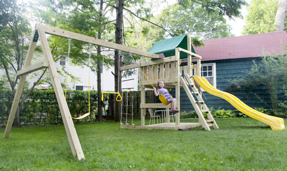 Backyard Playground Traditional Kids New York