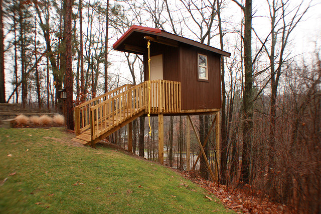Backyard Treehouse Ideas : Backyard Tree House  Eclectic  Kids  other metro  by Morris