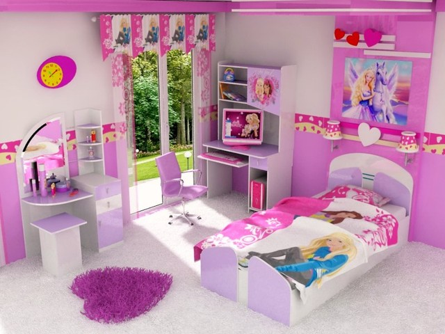 barbie kids room Traditional Kids New York