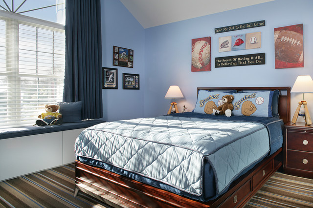 Baseball Bedroom Contemporary Kids Newark By