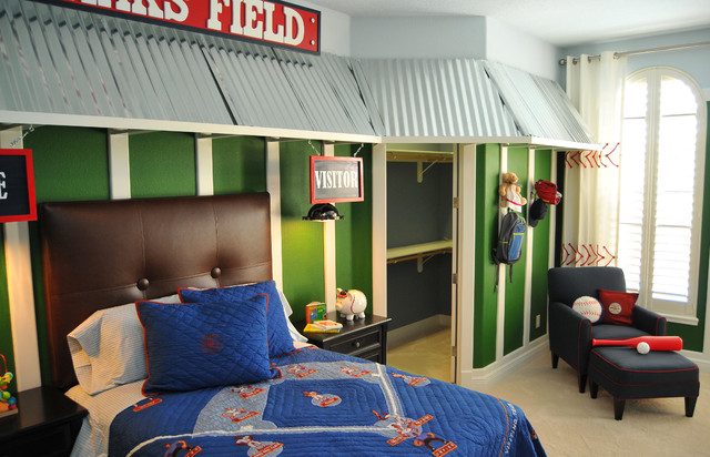 Baseball Kids Room Traditional