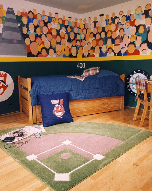 Baseball Theme Bedroom Traditional Kids