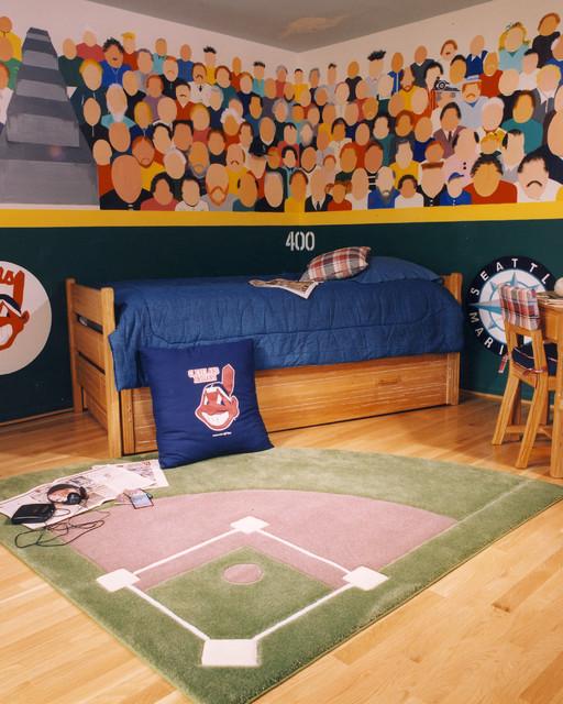 Baseball Theme Bedroomtraditional Kids Columbus