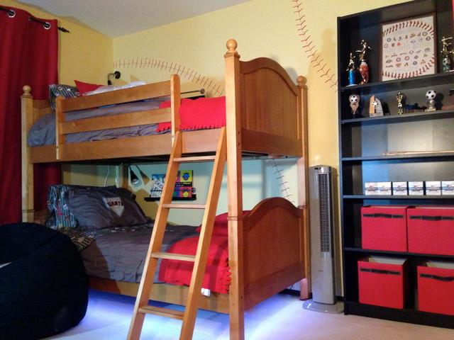 Baseball Theme Boys Bedroom Design