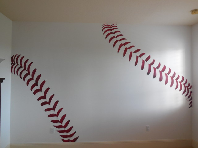 Baseball Wall Mural Contemporary Kids