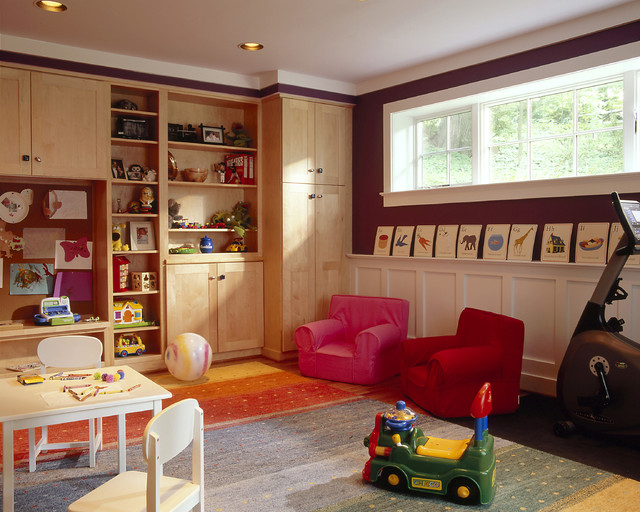 Basement Renovation - Bedroom, Playroom, Bathroom, Laundry, Family Room, Office contemporary-kids