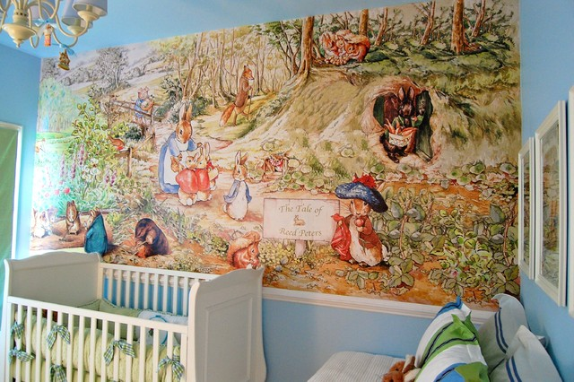 Beatrix potter nursery traditional kids for Beatrix potter mural wallpaper
