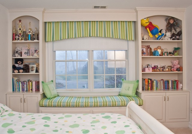 Bedroom Window Seat bedroom window seat - traditional - kids - new york -tim shea