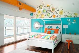 Room Of The Day Wall Flowers Dance In A Girl S Bedroom