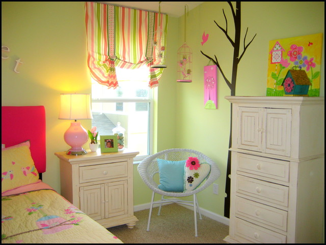 Birdhouse Girl's Bedroom eclectic-kids