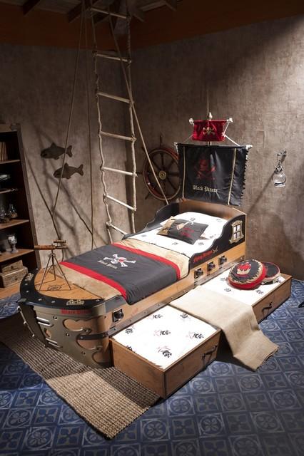 Black Pirate Kids Bedroom Collection Modern Kids