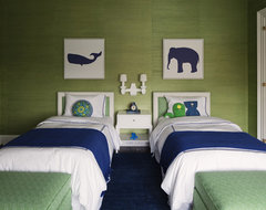Blue & Green Boys Room contemporary kids