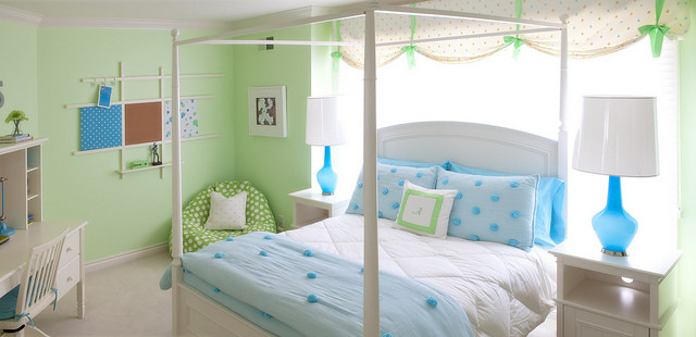Blue & Green Girl\'s Room - Modern - Kids - Detroit