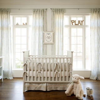 Blue And Taupe Paisley Crib Bedding Collection By Carousel