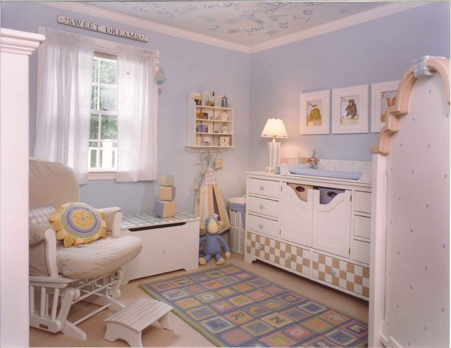 Blue Baby Girl S Room Traditional Kids Boston By